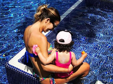 Water, Swimming pool, Fun, Leisure, Games, Photography, Indoor games and sports, Black hair,