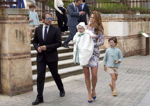 bautizo hijo de Amelia Bono y Manuel Martos