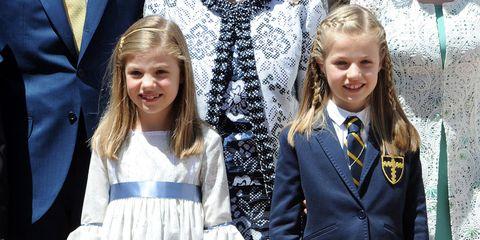 Uniform, Fashion, Blond, Event, Outerwear, Child, Ceremony, Suit, Child model, Formal wear,