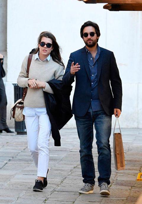 Carlota Casiraghi con su novio en Venecia