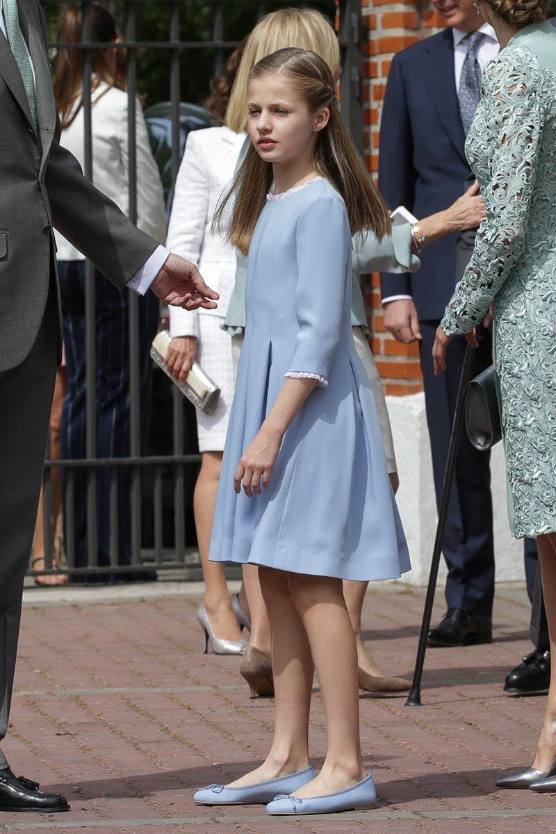 Infanta Leonor en la comunión de la infanta Sofía