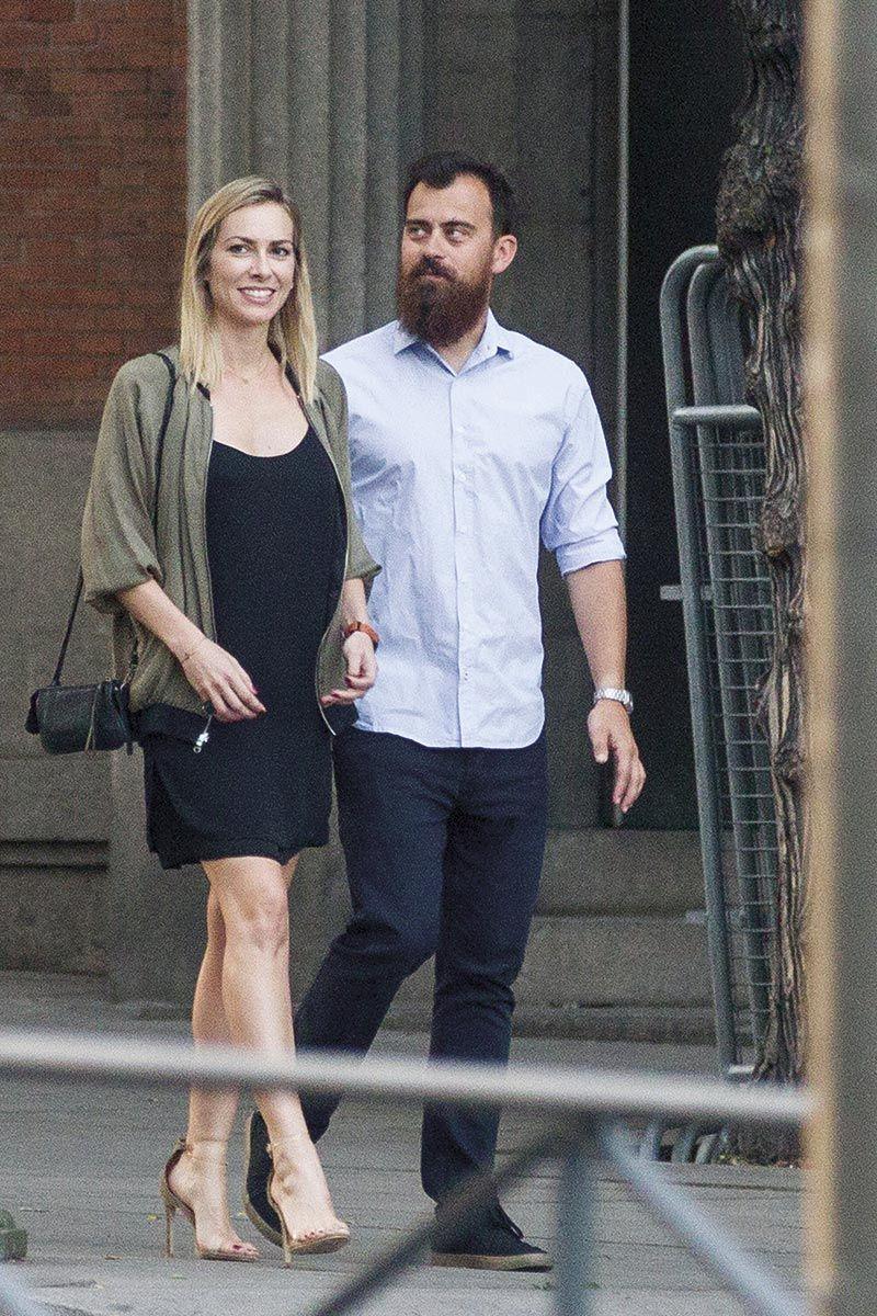 Kira Miró con su novio