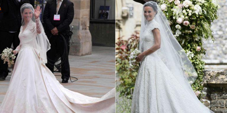 Diferencias en la bodas de Pippa y Kate Middleton