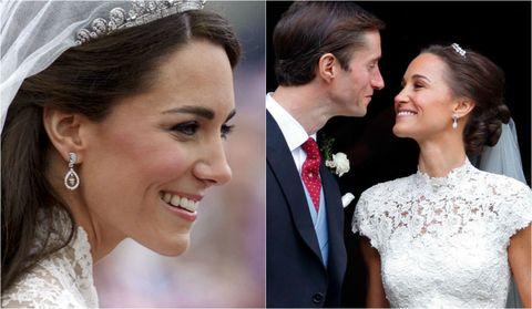 Pendientes boda Pippa Middleton