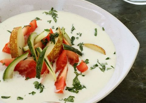 receta Ensalada con gazpacho blanco