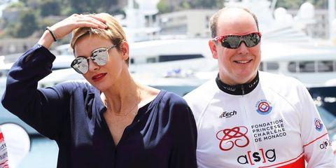 Charlene de Mónaco y Alberto de Mónaco Water Bike