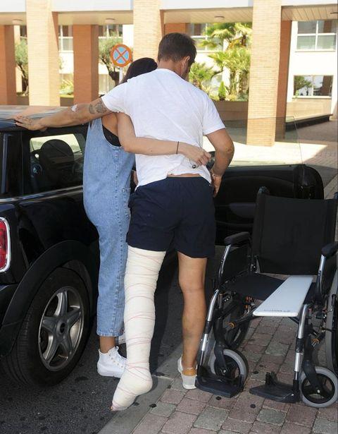 Julio Benítez tras el accidente de moto
