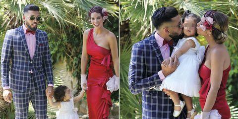 Ezequiel Garay y Tamara Gorro con su hija Shaila