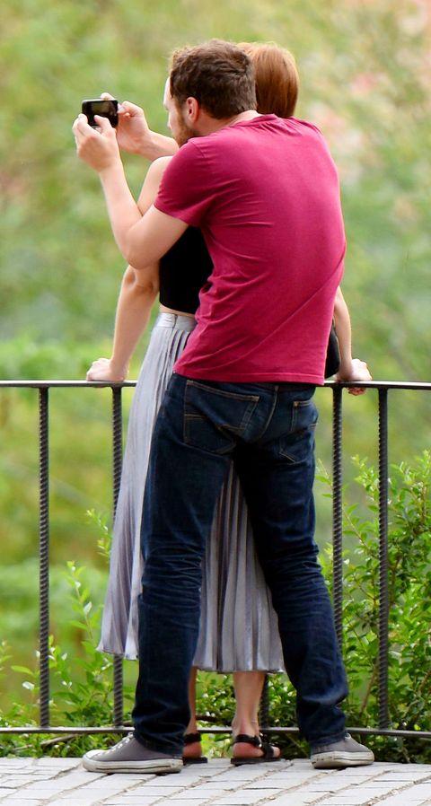 Manuela Vellés y su novio David Elliot