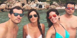 Iker Casillas, Sara Carbonero, Isabel Jiménez y Alejandro Cruz