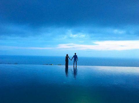 Sky, Blue, Water, Horizon, Sea, Ocean, Cloud, Reflection, Calm, Photography,