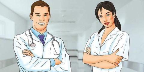 Health care provider, Physician, Nurse, Service, Job, Jaw, Gesture, Child, Health care, Nursing,