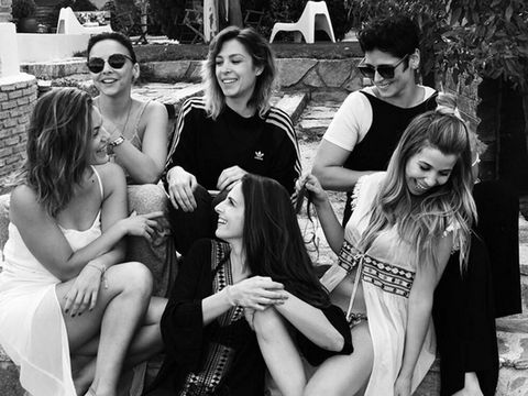 People, Photograph, Social group, Black-and-white, Fun, Monochrome, Snapshot, Fashion, Sitting, Event,