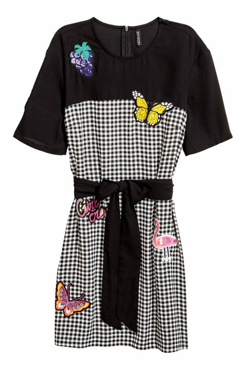 Clothing, Product, T-shirt, Sleeve, Day dress, Yellow, Dress, Pattern, Pattern, Design,