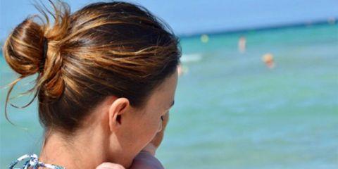 Hair, Hairstyle, Ear, Summer, Beauty, Vacation, Fun, Ponytail, Long hair, Neck,