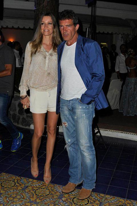 Antonio Banderas y Nicole Kempel