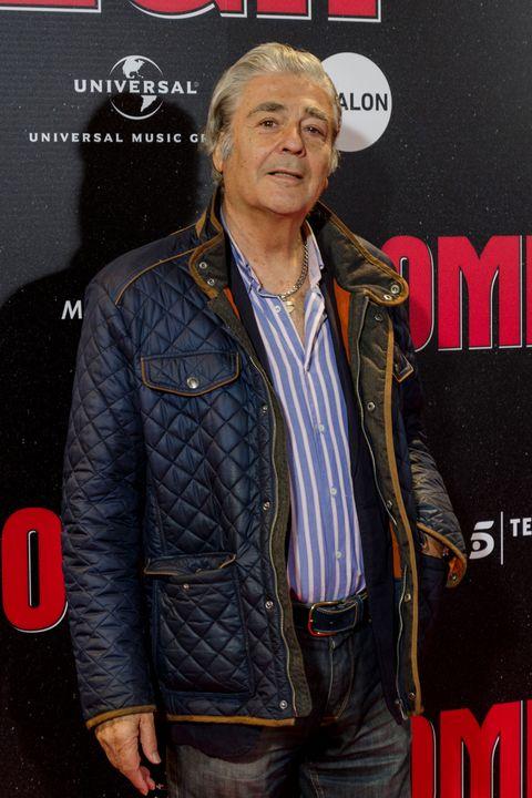 Jacket, Leather, Premiere, Textile, Event, Leather jacket, Denim, Carpet,
