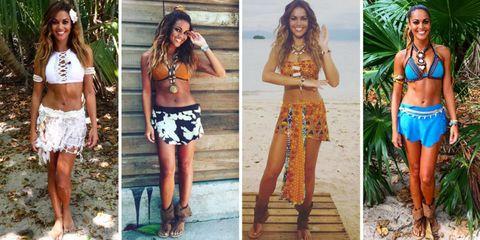 Clothing, Fashion, Crop top, Shorts, Top, Shirt, Waist, Street fashion, Dress, Abdomen,
