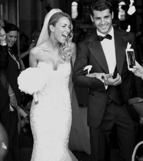 Photograph, Gown, Wedding dress, Facial expression, Dress, Bride, Bridal clothing, Ceremony, Formal wear, Wedding,