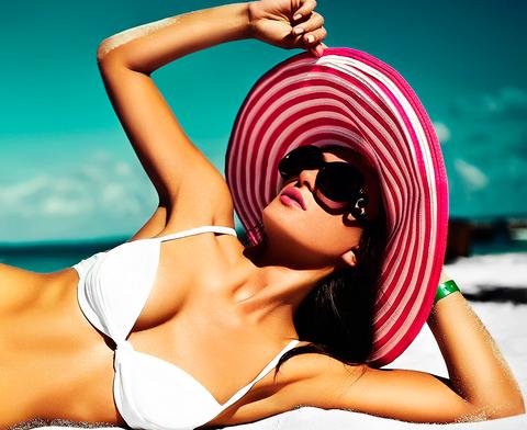 Bikini, Clothing, Sun tanning, Swimwear, Beauty, Skin, Swimsuit top, Summer, Model, Muscle,