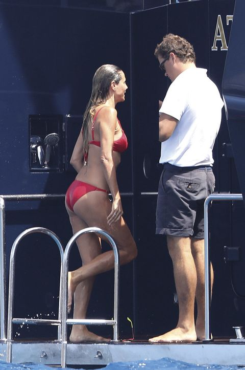 Heidi Klum en biquini en Saint-Tropez