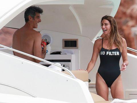 Jorge Fernández con su nueva novia