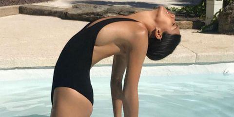 Shoulder, Joint, Leisure, Summer, Swimwear, One-piece swimsuit, Chest, Leotard, Thigh, Maillot,