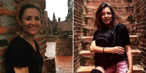 Nose, Smile, Mouth, Photograph, Happy, Facial expression, Style, Brick, Tourism, Beauty,