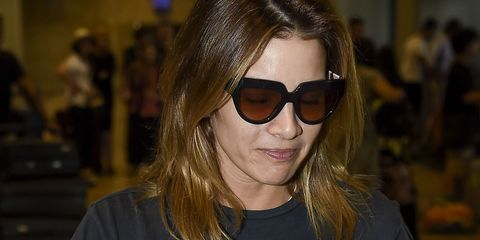 Eyewear, Glasses, Vision care, Lip, Hairstyle, Sunglasses, Chin, Style, Fashion accessory, Goggles,