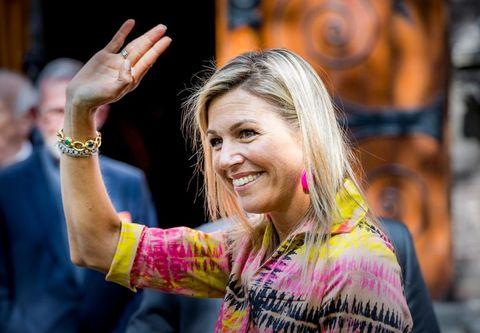 Máxima de Holanda tras la muerte de su padre