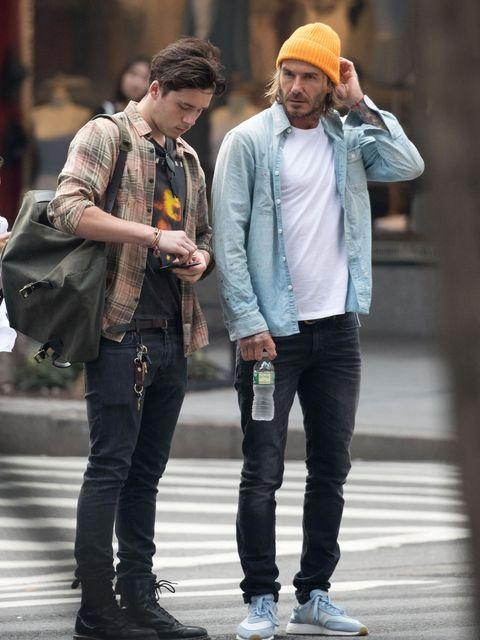 David Beckham y Brooklyn Beckham