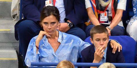 Victoria Beckham en el tenis con Romeo