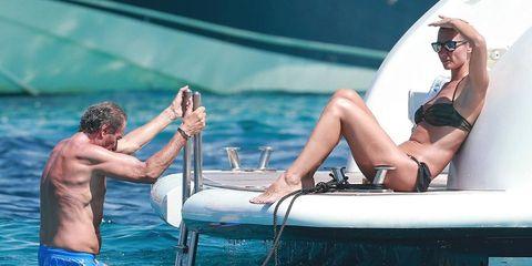 Mónica Pont con su novio en Ibiza