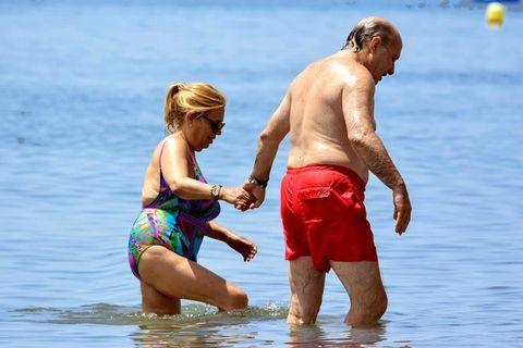 Carmen Borrego con su marido