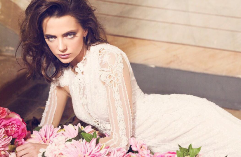 Clothing, Photo shoot, Beauty, Pink, Fashion model, Hairstyle, Dress, Formal wear, Wedding dress, Photography,