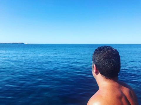 Sky, Sea, Horizon, Blue, Ocean, Water, Vacation, Azure, Summer, Fun,