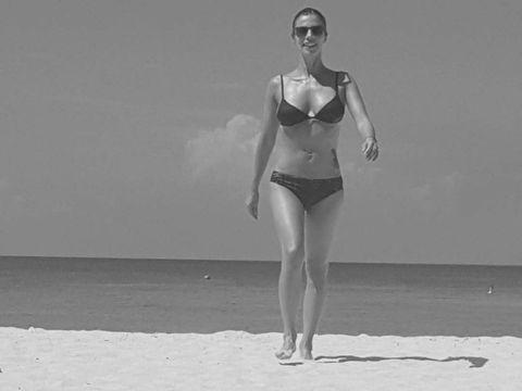 White, Photograph, Standing, Fashion, Bikini, Leg, Swimwear, Shoulder, Photography, Vacation,