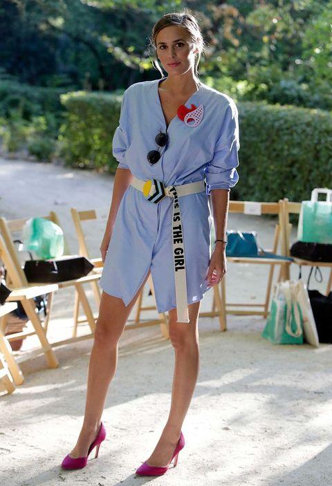 White, Clothing, Street fashion, Fashion, Shoulder, Footwear, Dress, Shoe, Summer, Leg,