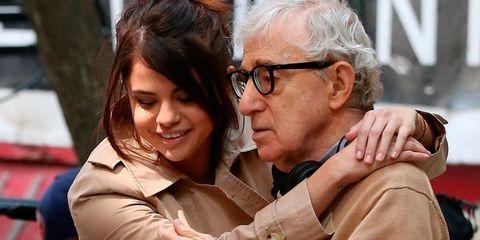 Selena Gomez con Woody Allen