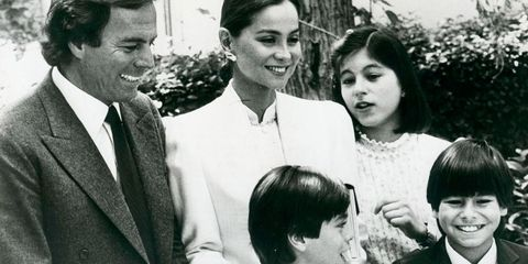 Julio Iglesias e Isabel Preysler con sus tres hijos en común