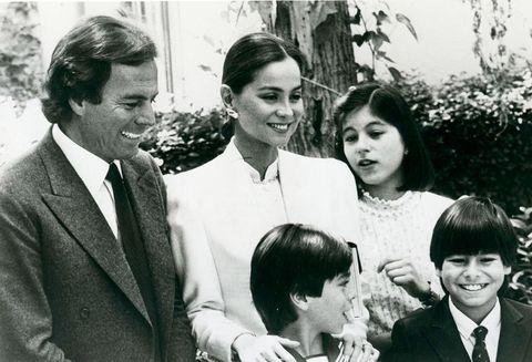 Julio Iglesias y sus hijos