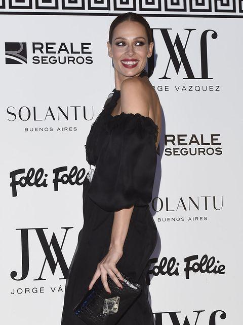 Dress, Clothing, Little black dress, Premiere, Cocktail dress, Magazine, Event, Fashion model, Smile, Style,