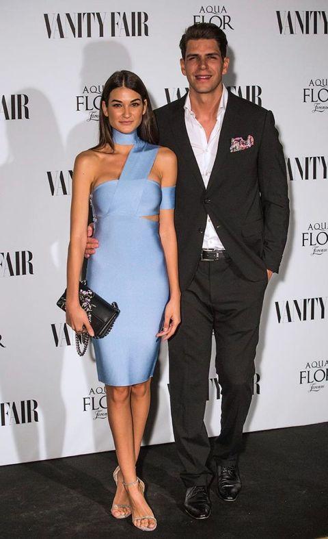 Clothing, Cocktail dress, Dress, Shoulder, Suit, Fashion, Joint, Formal wear, Event, Footwear,