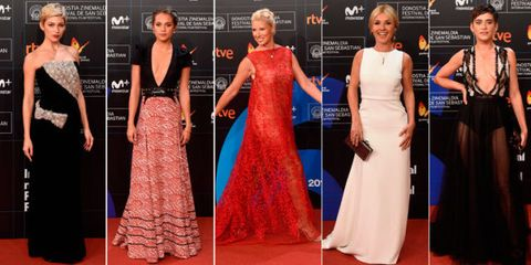 Red carpet, Dress, Carpet, Clothing, Gown, Fashion, Flooring, Fashion model, Premiere, Event,
