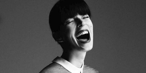 Face, Facial expression, Nose, Mouth, Shout, Chin, Black-and-white, Smile, Monochrome photography, Laugh,