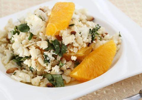 receta Cuscus de coliflor y naranja