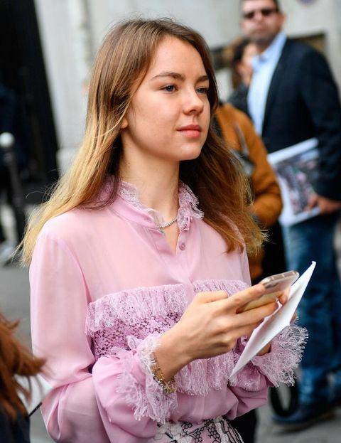 Alexandra de Hannover en los desfiles de París