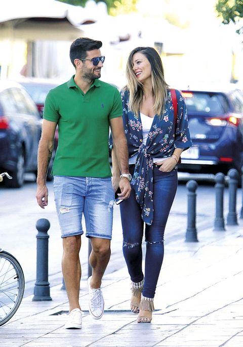 Lorena Gómez con Antonio Barragán
