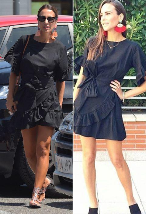 Clothing, Little black dress, Fashion model, Street fashion, Dress, Footwear, Fashion, Leg, Shoe, Snapshot,