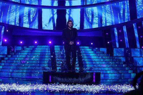 Blue, Light, Stage, Lighting, Purple, Cobalt blue, Majorelle blue, Electric blue, Performance, Architecture,